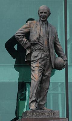 Standbeeld van Matt Busby op Old Trafford van Philip Jackson - cc