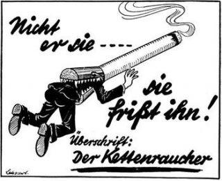 Waarschuwing tegen het roken