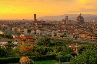 Zicht op Florence, een van de geboortesteden van de Renaissance