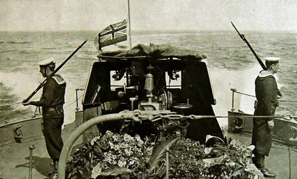 Het lichaam van Edith Cavell keert terug in Groot-Brittannië, 1919
