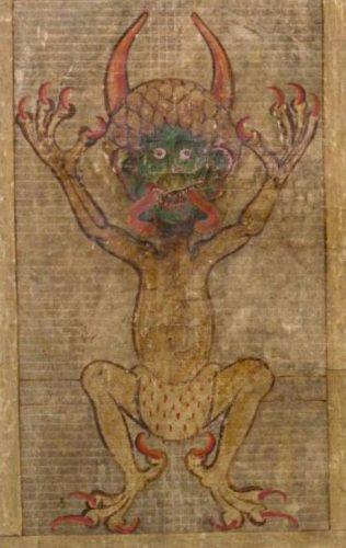 De afbeelding van de duivel in de Codex Gigas