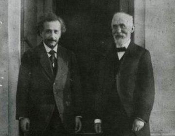 Einstein en Lorentz in Leiden (1921) - Rijksmuseum Boerhaave