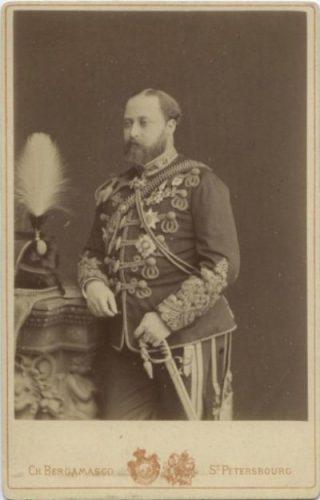 Eduard in zijn jonge jaren als Prins van Wales