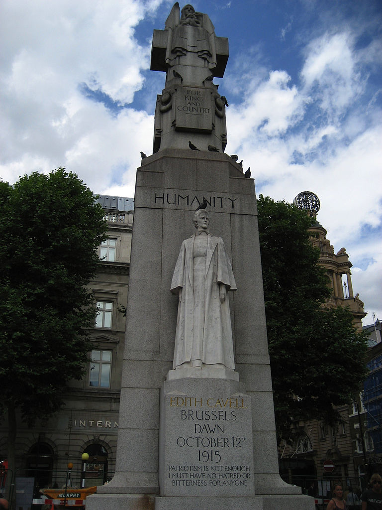 Standbeeld van Cavell in Londen