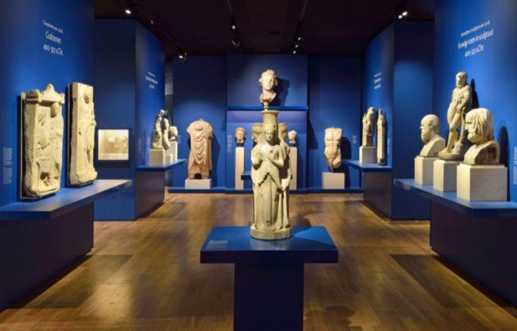 Vaste tentoonstelling 'Klassieke wereld' in het Rijksmuseum van Oudheden: Griekse zaal Foto: Mike Bink