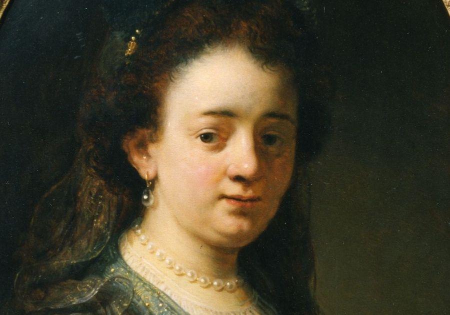 Portret van Saskia Uylenburgh, Govert Flinck, ca. 1635, Olieverf op paneel, Fries Museum, Leeuwarden| Bruikleen Collectie Rijksdienst voor het Cultureel Erfgoed
