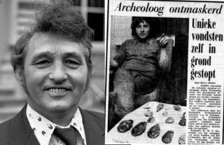 Links: Tjerk Vermaning (cc - Bert Verhoeff / Anefo - Nationaal Archief), rechts De Telegraaf, 1975 (Delpher)