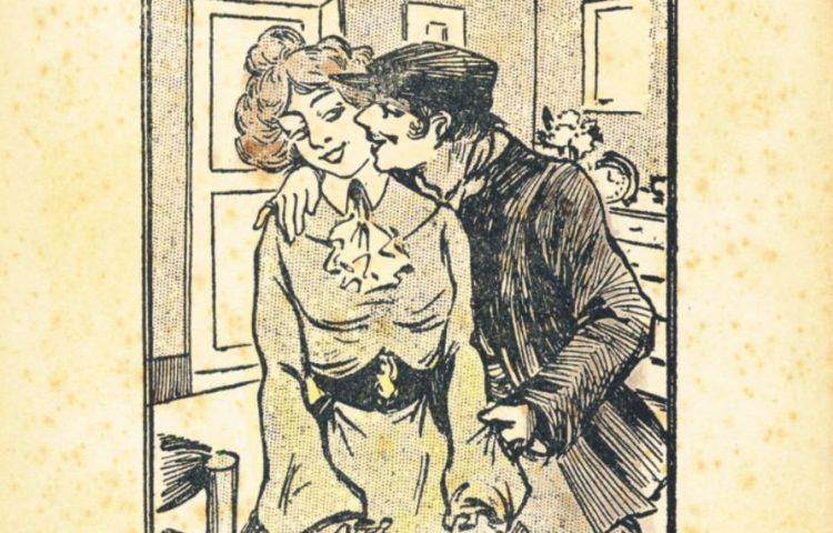 Afbeelding op een uitgave van 'De verdorven wellusteling' (KB)