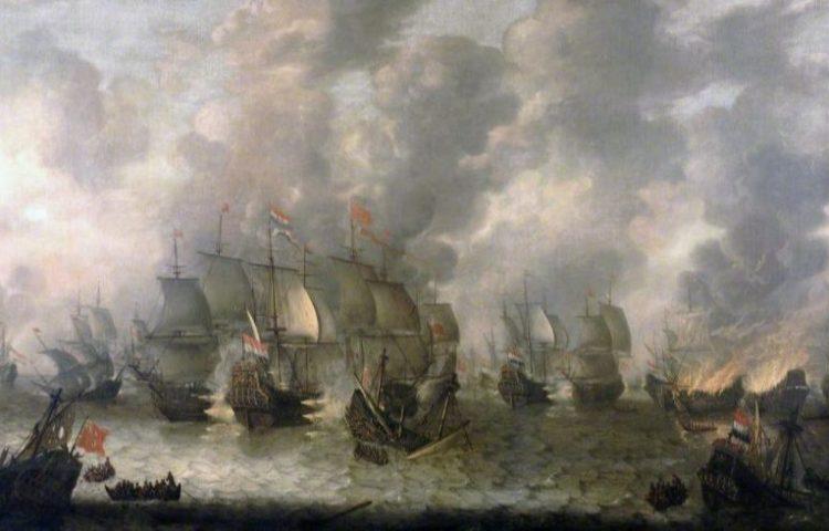 Akte van Navigatie - De Slag bij Ter Heijde (1653) - Jan Abrahamsz. van Beerstraten