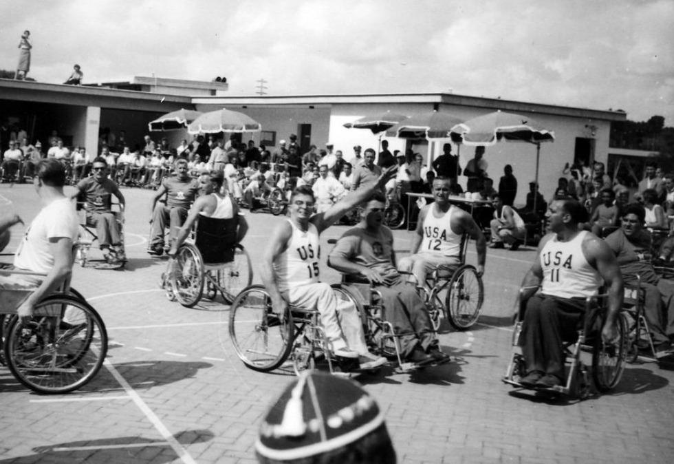 Amerikaanse basketballers tijdens de Paralympics van 1960