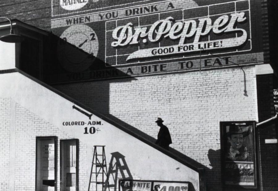 Bekende foto uit de tijd van de segregatie