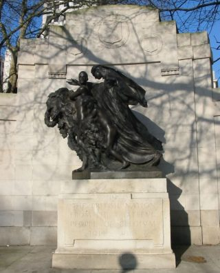 'Belgian War Memorial in Gratitude to Great Britain, 1920' (wiki - Man vyi)