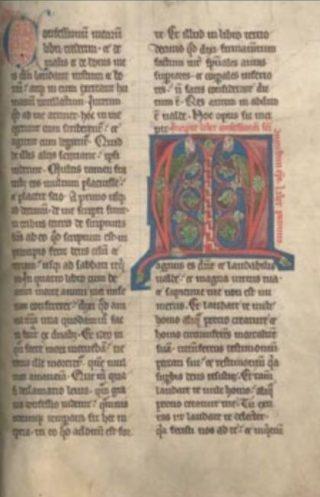 Bladzijde van een handschrift van de Confessiones van Augustinus