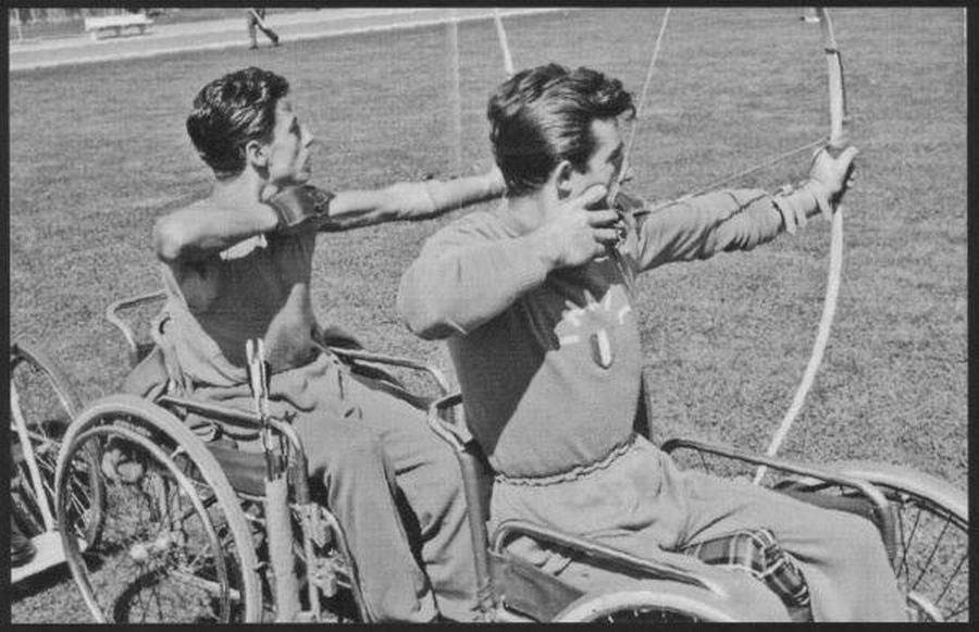 Italiaanse boogschutters tijdens de Paralympics van 1960