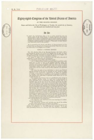 Eerste pagina van de Civil Rights Act