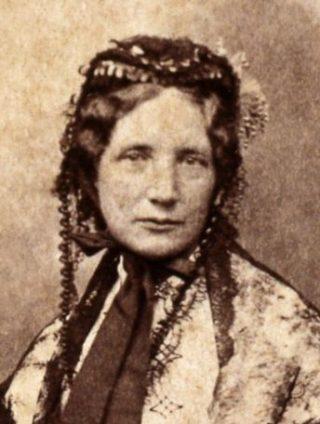 Harriet Beecher Stowe rond 1852