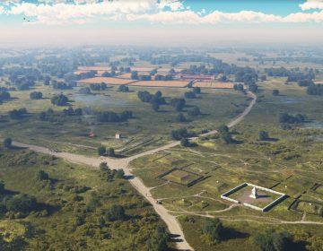 Impressie van het Romeinse grafveld (ADC ArcheoProjecten - ARCHOL)