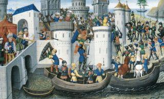 Kruistochten - Verovering van Constantinopel door kruisvaarders, 1204