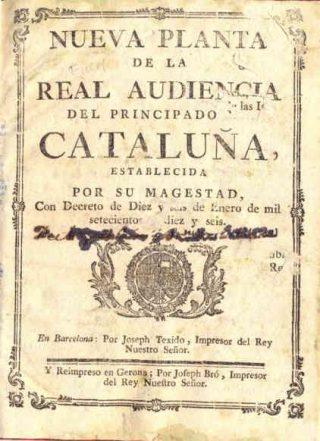 Nueva Planta van Catalonië