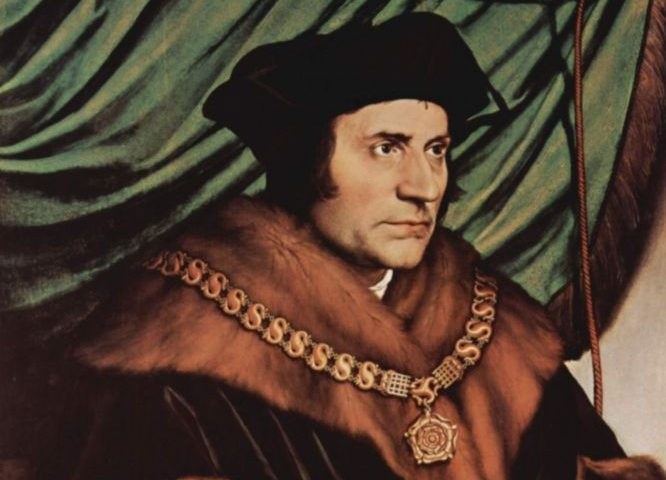 Portret van Thomas More door Hans Holbein de Jonge (1527)