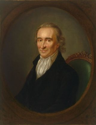 Thomas Paine, portret door Laurent Dabos (ca. 1792)