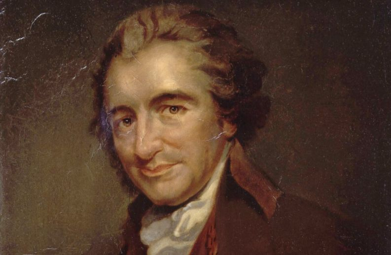Thomas Paine. Schilderij van Auguste Millière (fl.1876), naar een gravure van William Sharp.