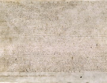 De Magna Carta of grote oorkonde uit 1215.