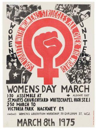Poster voor Internationale Vrouwendag, 1975