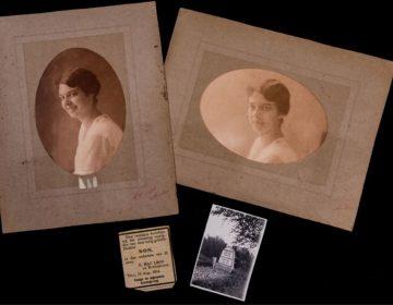 Foto's van Non, haar overlijdensaankondiging en een foto van haar graf. Foto door Ruben van Vliet.