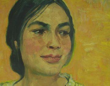 Portret van Anda Kerkhoven, detail – Johan Dijkstra (Groninger Museum)