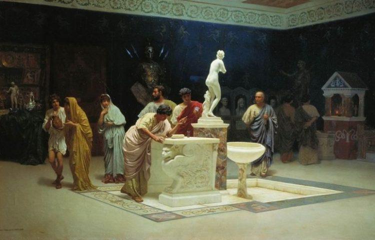 "Stefan Bakałowicz. ""At Maecenas' reception room"""