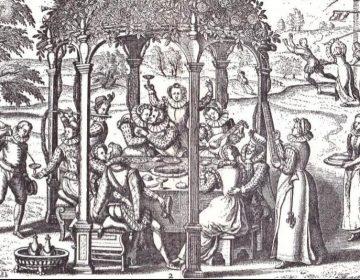 De ontuchtigde liefde en haar gevolgen.Nederlandse kopergravure, 17e eeuw. (E. Fuchs, Illustrierte Sittengeschichte, 1909)