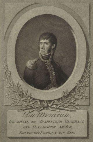Jean-Baptiste Dumonceau, militair commandant van Den Haag, maarschalk van Holland en generaal in dienst van de Bataafse Republiek, het Bataafs Gemenebest, het Koninkrijk Holland en het Franse Keizerrijk van Napoleon Bonaparte. Rijksmuseum, Amsterdam.