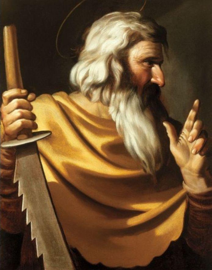 Simon de Zeloot volgens Caravaggio
