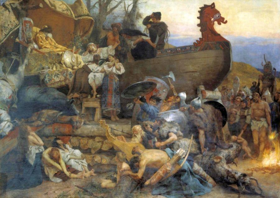 Begrafenis van Igor de Oude in 945