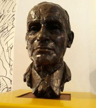 Buste van Jan Herman van Heek in het kasteel (Foto Historiek)
