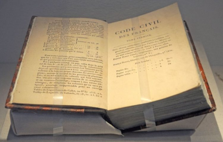 Code Napoleon - Code Civil (cc - Historical Museum of the Palatinate in Speyer)