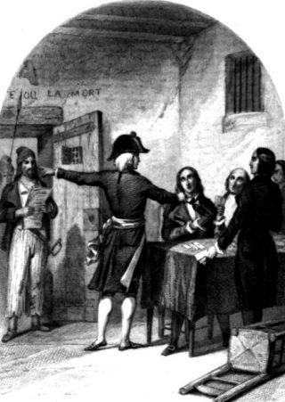 De Girondijnen kort na hun arrestatie