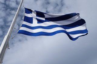 De huidige Griekse vlag (cc - Pixabay - cmdpmk)