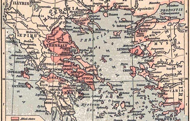 Delische Bond - Athene en bondgenoten in 450 v.Chr. (wiki)