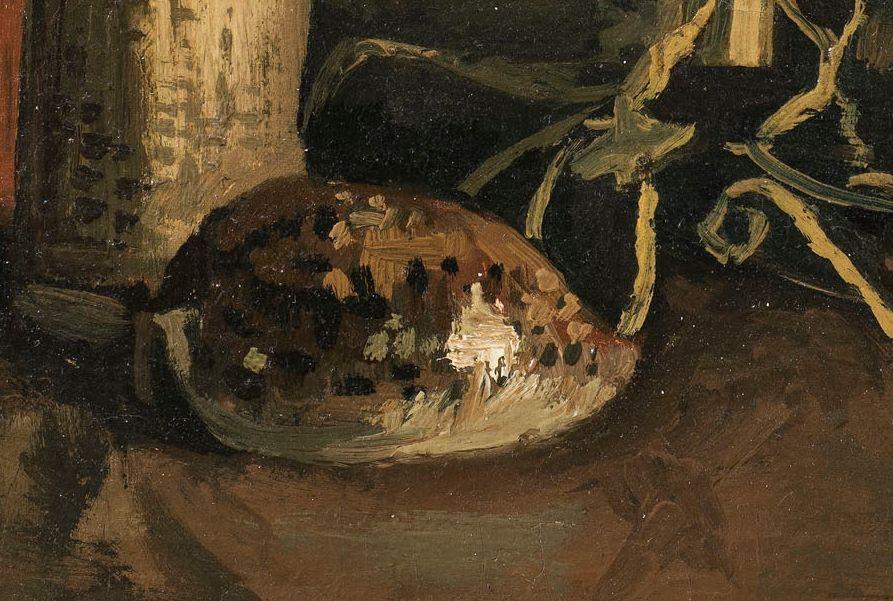 Detail van het schilderij