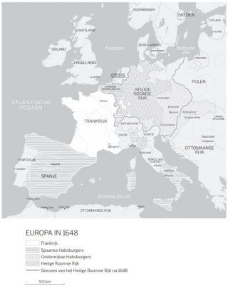 Europa in 1648. Bron: De Zonnekoning