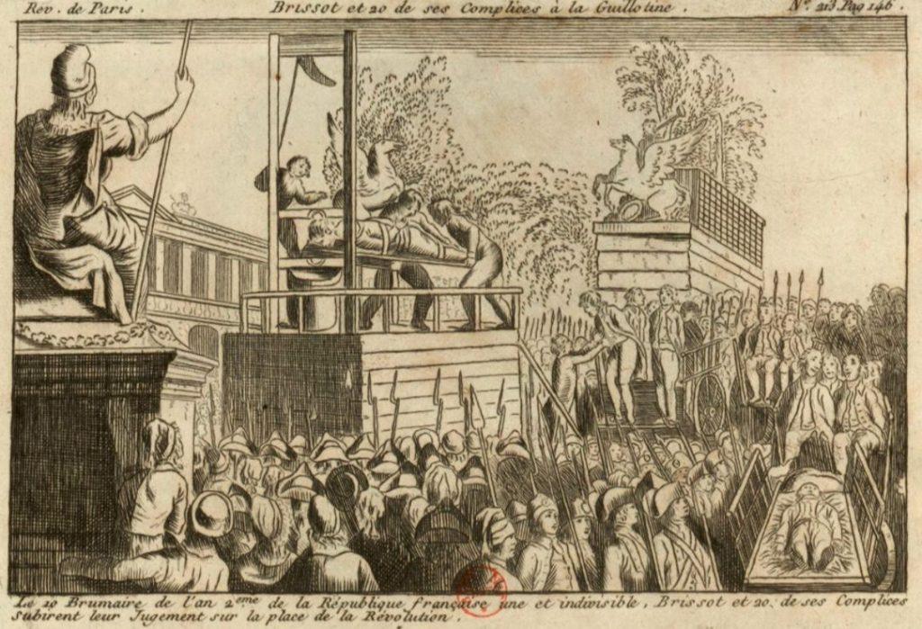 Executie van 21 Girondijnen, Place de la Révolution