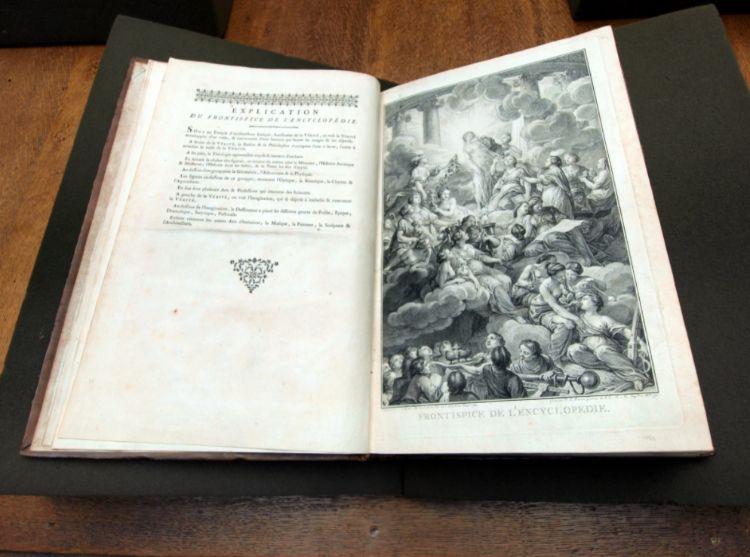 Exemplaar van de Encyclopédie in de bibliotheek van Teylers Museum (cc - AlfvanBeem - wiki)