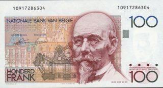 Hendrik Beyaert op een oud Belgisch bankbiljet
