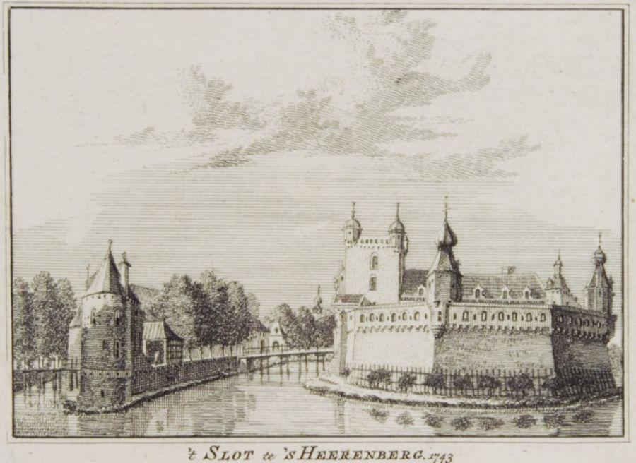 Huis Bergh in 1752