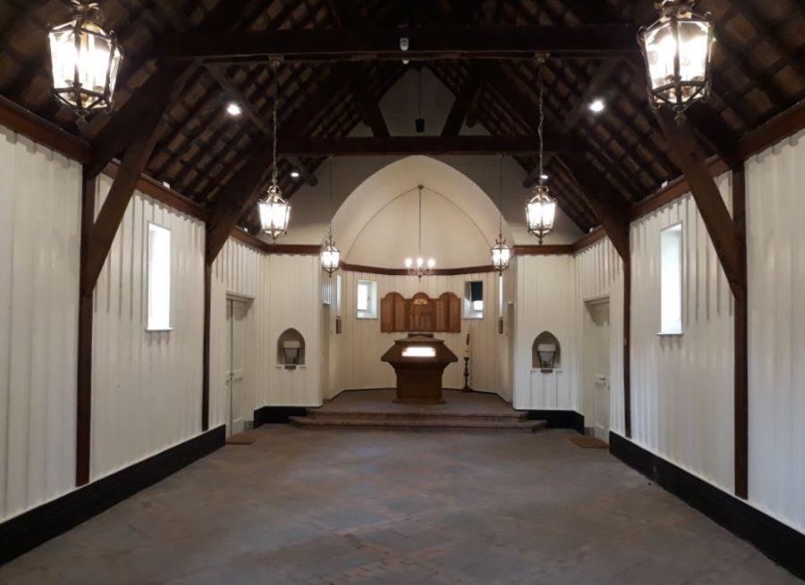 Interieur van de kapel (Historiek)