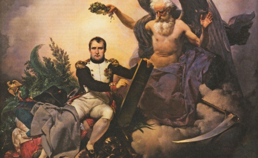 Napoleon schrijft de Code Napoleon / Code Civil (Jean-Baptiste Mauzaisse, 1833)