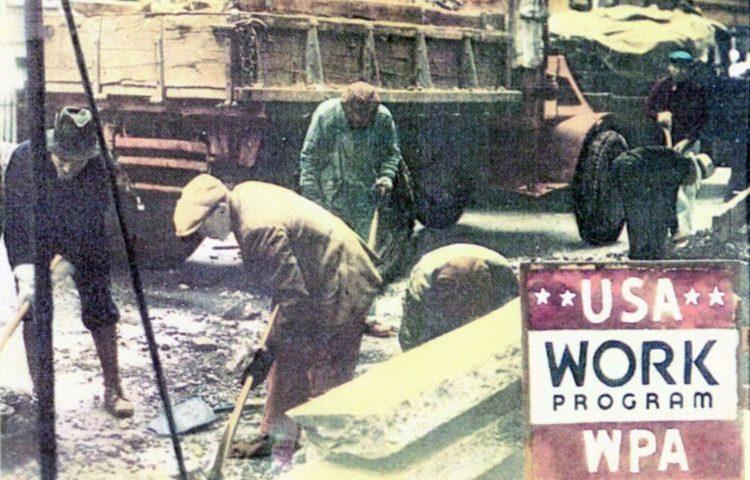 De New Deal moest onder meer de werkloosheid in Amerika verminderen