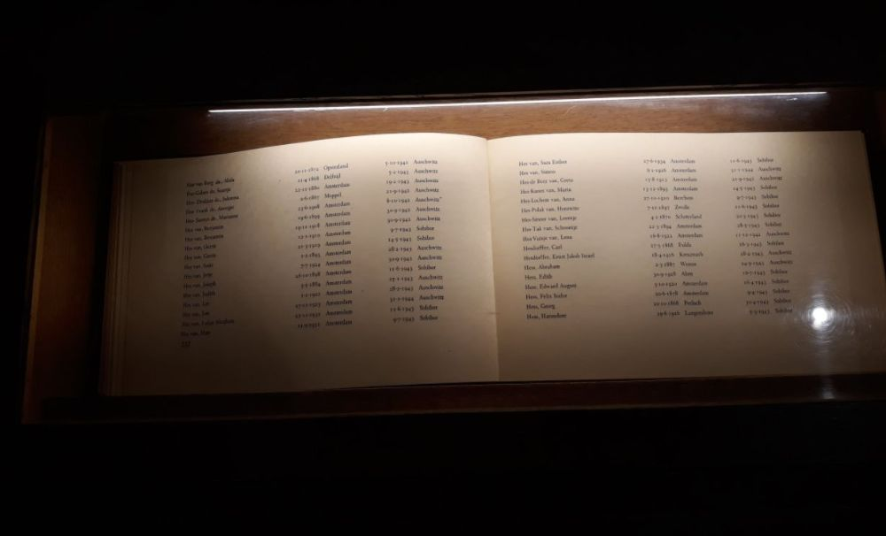 Opengeslagen pagina uit een van de gedenkboeken (Historiek)